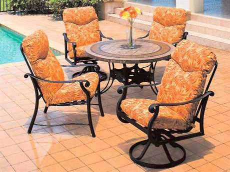 Suncoast Rendezvous Cushion Cast Aluminum Dining Set