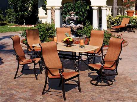 Suncoast Rendezvous Sling Cast Aluminum Dining Set