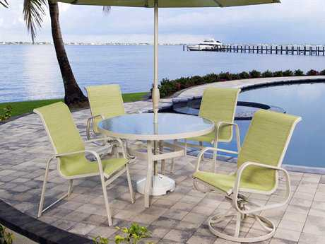 Suncoast Seascape Sling Cast Aluminum Dining Set