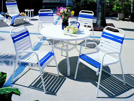 Suncoast Sanibel Strap Aluminum Dining Set