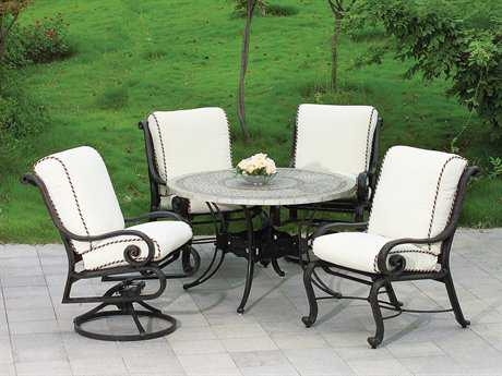 Suncoast San Marco Cushion Cast Aluminum Dining Set
