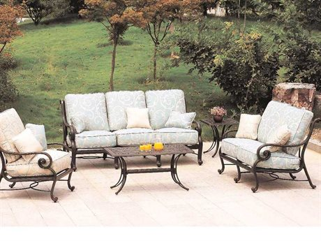 Suncoast San Marco Cushion Cast Aluminum Lounge Set