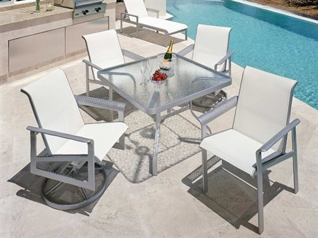 Suncoast South Beach Sling Cast Aluminum Dining Set