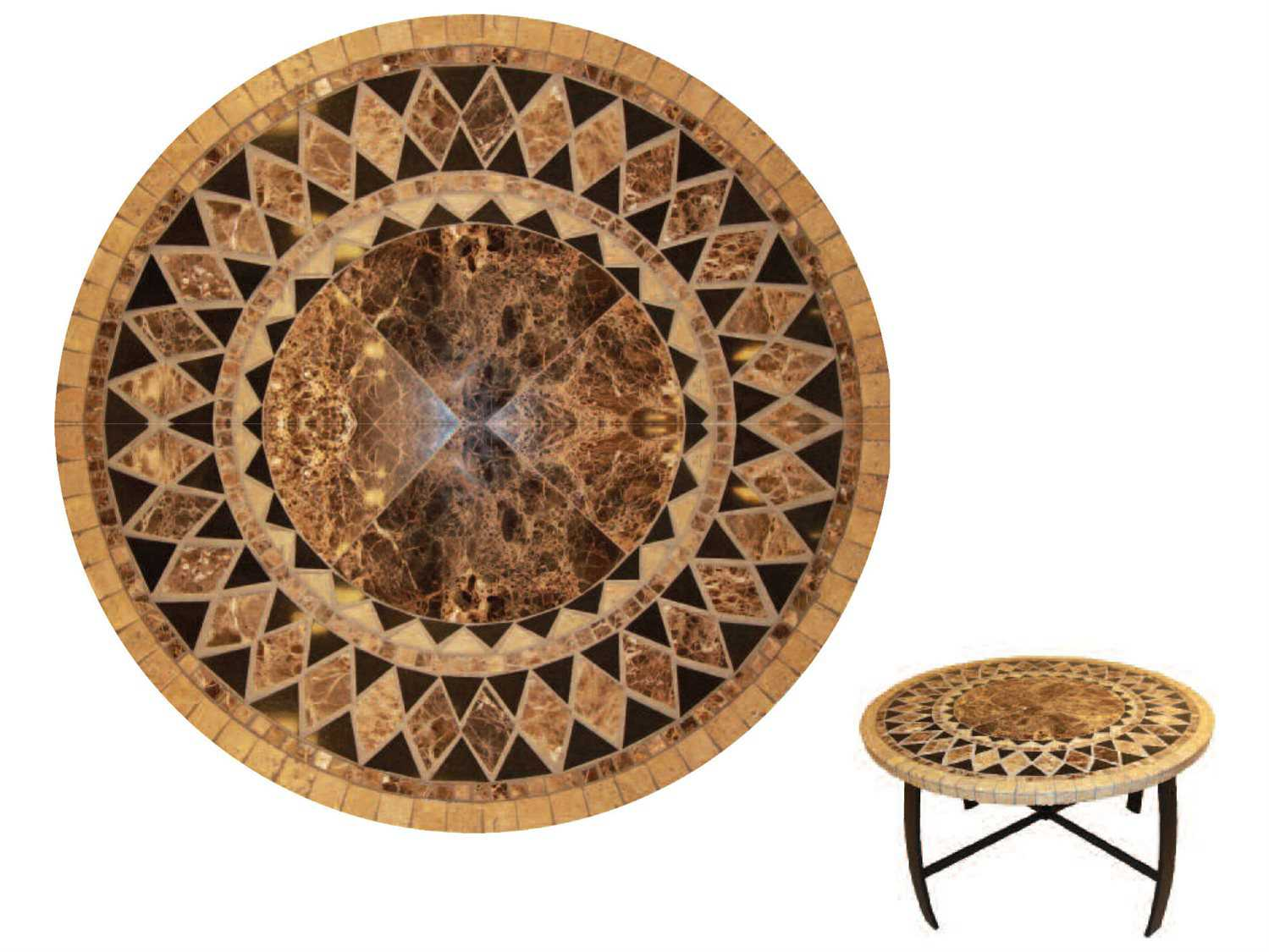 Suncoast Onyx Natural Stone 54 Round Dining Table Tops