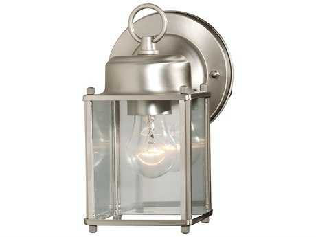 Savoy House Main Street Satin Nickel Outdoor Wall Light