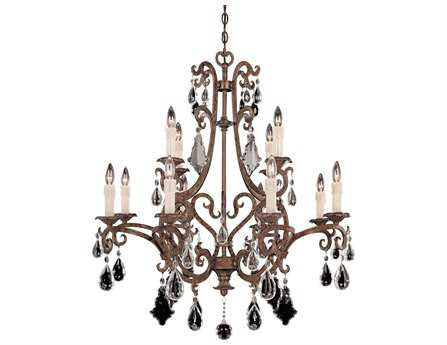 Savoy House Olde World Florence New Tortoise Shell 12-Light 33'' Wide Chandelier