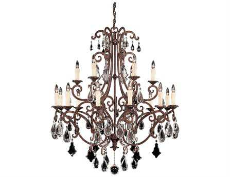 Savoy House Olde World Florence New Tortoise Shell 18-Light 40'' Wide Grand Chandelier