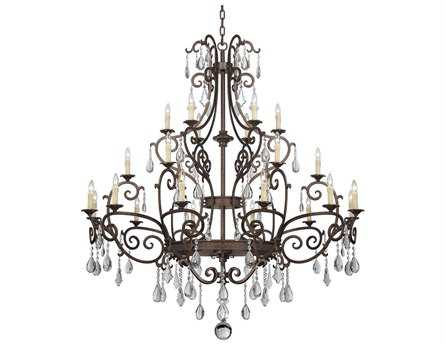 Savoy House Olde World Florence New Tortoise Shell Metal 24-Light 66'' Wide Grand Chandelier