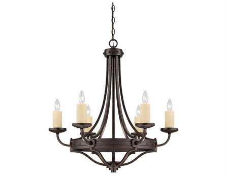 Savoy House Olde World Elba Oiled Copper Six-Light 29'' Wide Chandelier