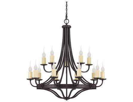 Savoy House Olde World Elba Oiled Copper 15-Light 48'' Wide Grand Chandelier