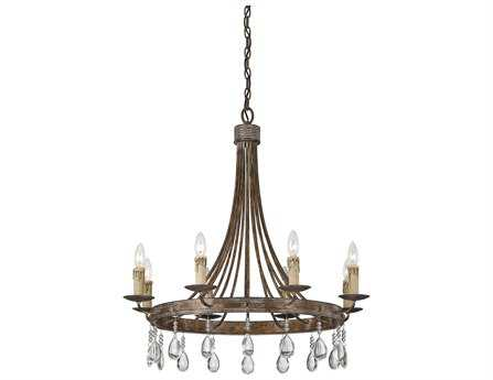Savoy House French Country Carlisle Bronze Patina Eight-Light 29'' Wide Chandelier