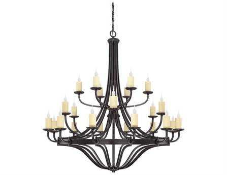 Savoy House Olde World Elba Oiled Copper 24-Light 60'' Wide Grand Chandelier