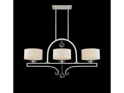 Savoy House Today's Classic Style Rosendal Silver Sparkle Silver Fabric Three-Light Island Light