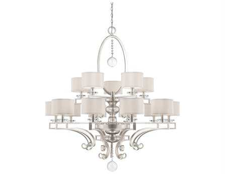 Savoy House Today's Classic Style Rosendal Silver Sparkle Silver Fabric 15-Light 52'' Wide Grand Chandelier