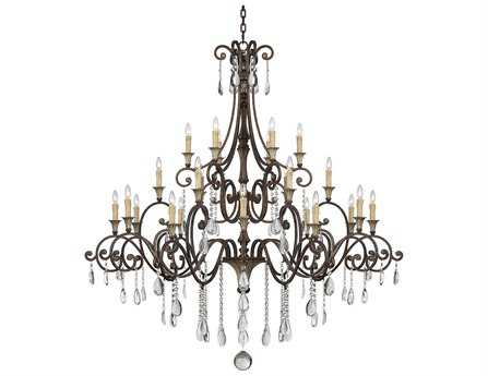 Savoy House Olde World St. Laurence New Tortoise Shell & Silver 24-Light 66'' Wide Grand Chandelier