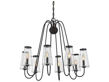 Savoy House Oleander English Bronze Eight-Light 30'' Wide Chandelier