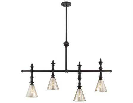 Savoy House Rustica Darian Oiled Bronze Four-Light Trestle Light