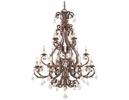 Savoy House Olde World Chastain New Tortoise Shell & Silver 16-Light 48'' Wide Grand Chandelier