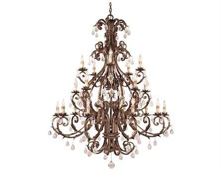 Savoy House Olde World Chastain New Tortoise Shell & Silver 20-Light 56'' Wide Grand Chandelier