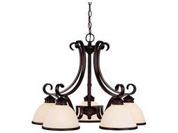 Savoy House Main Street Willoughby English Bronze Five-Light 27'' Wide Chandelier