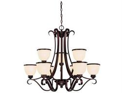 Savoy House Main Street Willoughby English Bronze Nine-Light 34'' Wide Chandelier