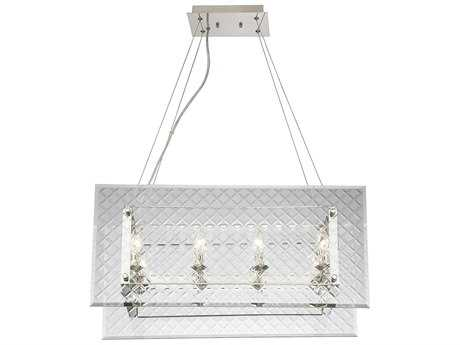 Savoy House Addison Polished Nickel Eight-Light 14'' Wide Island Ceiling Light
