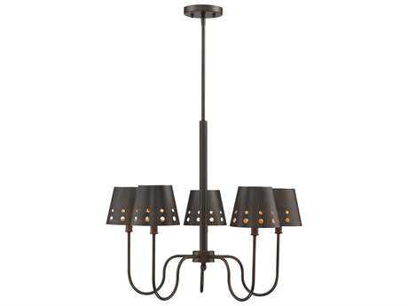 Savoy House Kimball Cuprum Five-Light 26'' Wide Chandelier