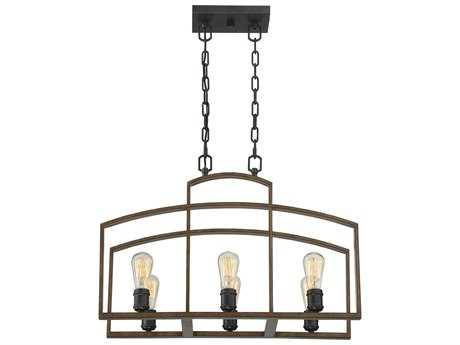 Savoy House Gage Woodland Bronze Six-Light 12'' Wide Mini-Chandelier