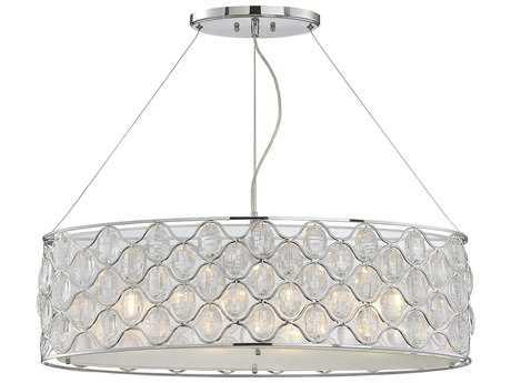 Savoy House Opus Polished Chrome Four-Light 12'' Wide Island Ceiling Light