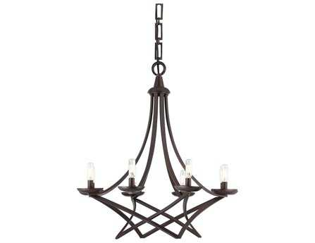 Savoy House Today's Classic Style Windsung English Bronze Eight-Light 27'' Wide Chandelier