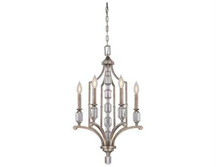 Savoy House Today's Classic Style Filament Silver Dust Four-Light 18'' Wide Chandelier