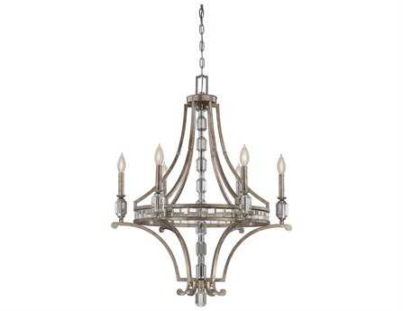 Savoy House Today's Classic Style Filament Silver Dust Six-Light 28'' Wide Chandelier