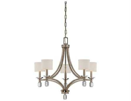Savoy House Today's Classic Style Filament Silver Dust Soft White Five-Light 25'' Wide Chandelier