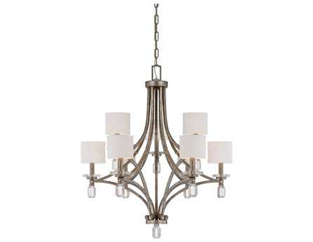 Savoy House Today's Classic Style Filament Silver Dust Soft White Nine-Light 33'' Wide Chandelier