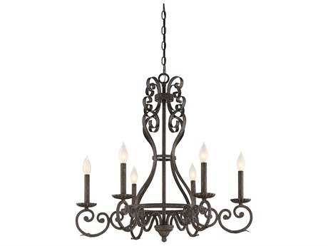 Savoy House Bree Fieldstone Six-Light 28'' Wide Chandelier