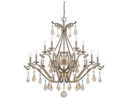 Savoy House Today's Classic Style Rothchild Oxidized Silver 15-Light 45'' Wide Chandelier