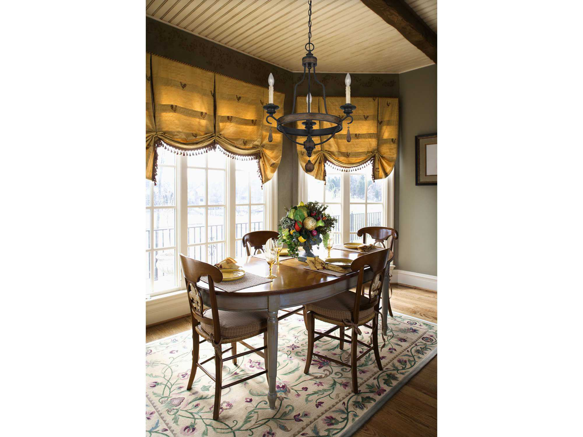 Savoy house french country kelsey durango three light 21 for Savoy house