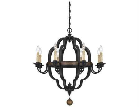 Savoy House French Country Kelsey Durango Eight-Light 30'' Wide Chandelier