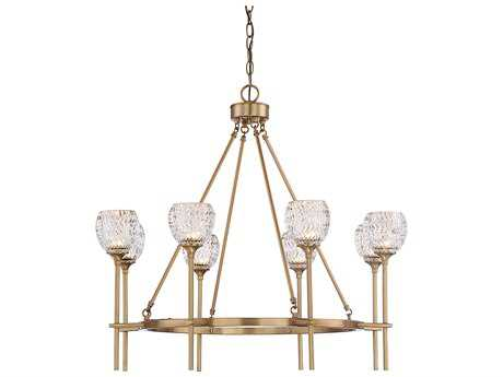 Savoy House Garland Warm Brass Eight-Light 31.63'' Wide Chandelier
