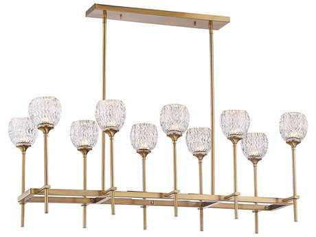 Savoy House Garland Warm Brass Ten-Light 39.63'' Wide Island Light