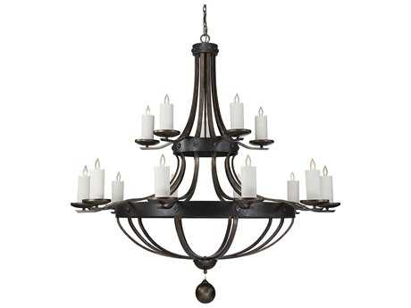 Savoy House Alsace Reclaimed Wood 15-Light 80'' Wide Grand Chandelier with Soft White Beeswax Candle Cover