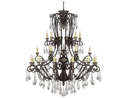 Savoy House Olde World Elizabeth New Tortoise Shell 24-Light 72'' Wide Grand Chandelier