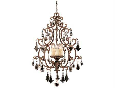 Savoy House Olde World Florence New Tortoise Shell Five-Light Open Foyer Pendant