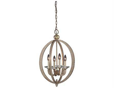 Savoy House Today's Classic Style Forum Gold Dust Four-Light Foyer Pendant