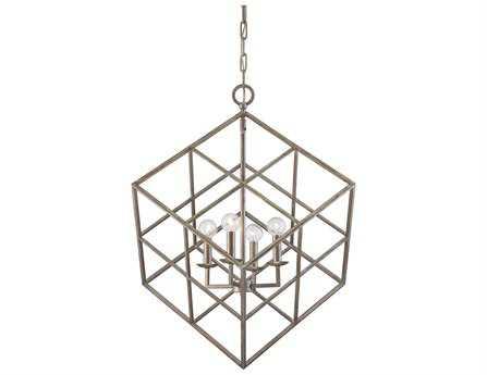 Savoy House Today's Classic Style Halston Argentum Four-Light Pendant