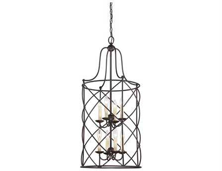 Savoy House Restoration Seneca English Bronze Eight-Light Foyer Pendant