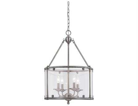 Savoy House Heritage Foxcroft Brushed Pewter Four-Light Foyer Pendant