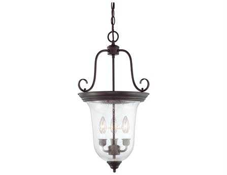 Savoy House Entry Lanterns Foyer English Bronze Three-Light Foyer Pendant