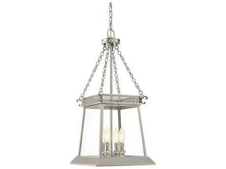 Savoy House Norwich Polished Nickel Four-Light 12.5'' Wide Mini-Chandelier with Clear Glass
