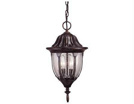 Savoy House Outdoor Living Tudor Bark & Gold Two-Light Outdoor Hanging Pendant